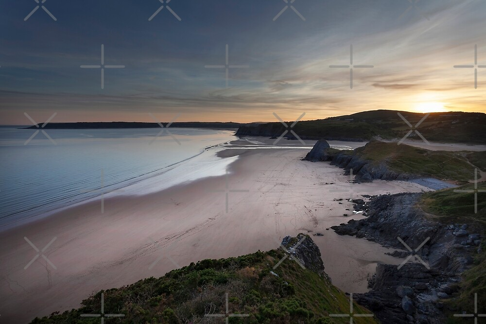 Three Cliffs Bay and The Great Tor by Leighton Collins