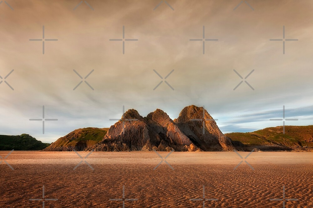 Three Cliffs Bay by Leighton Collins