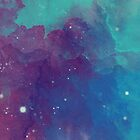 Night sky [watercolor] by Artem-Witness