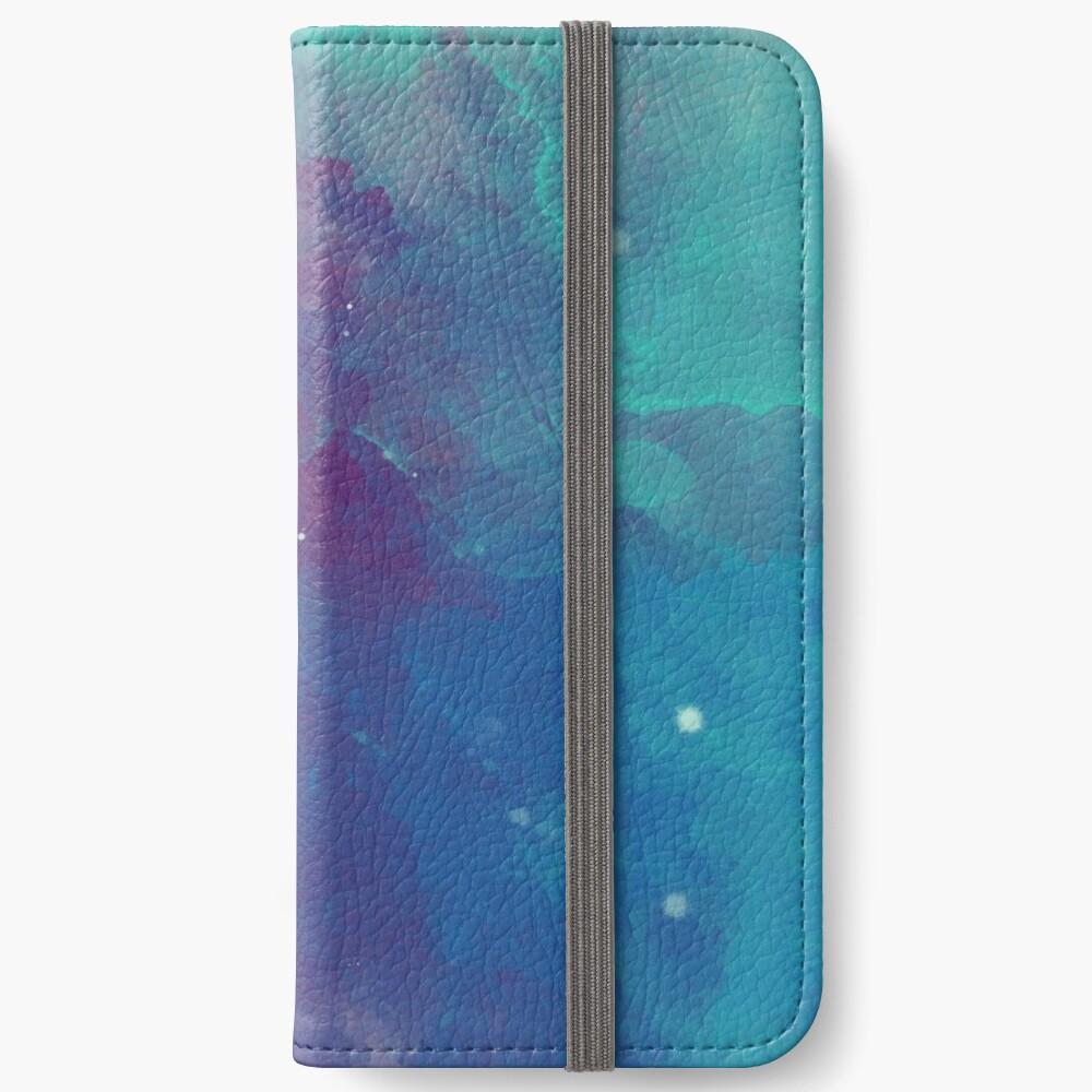 Night sky [watercolor] iPhone Wallet