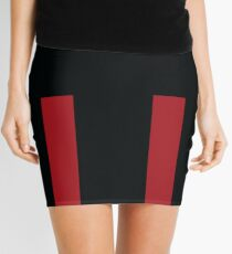 Red Accent Mini Skirt