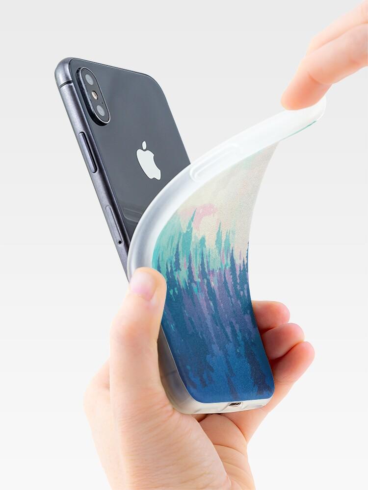 Vista alternativa de Funda y vinilo para iPhone Bosque