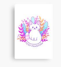 Pawsitive Cat Canvas Print