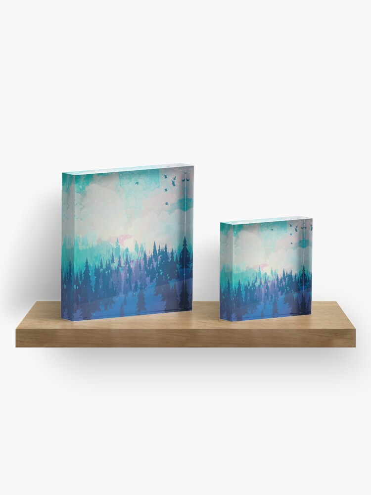 Alternate view of Forest Acrylic Block