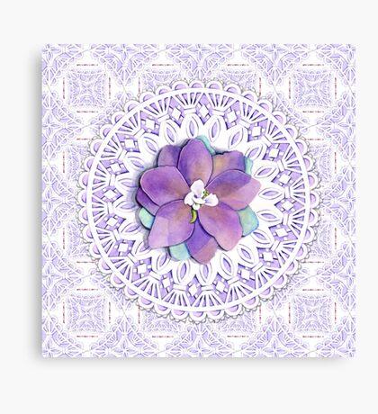 Victorian Flower Lace Canvas Print