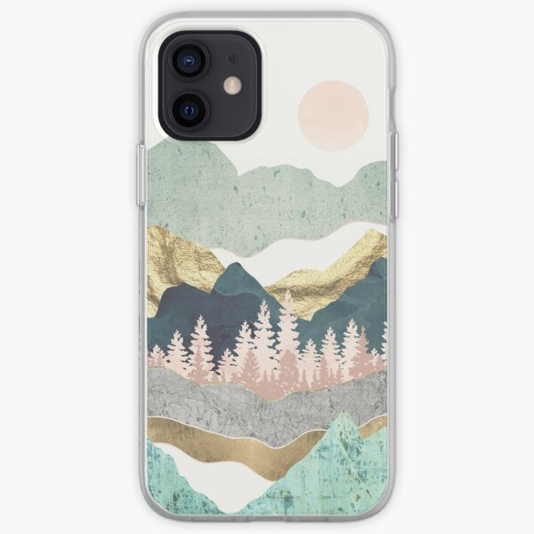 montagnes et or Coque souple iPhone