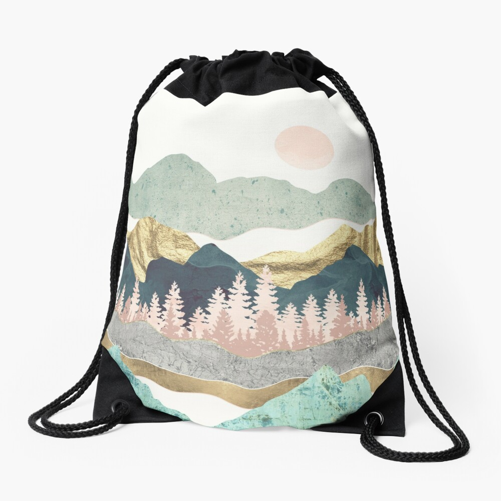 Summer Vista Drawstring Bag