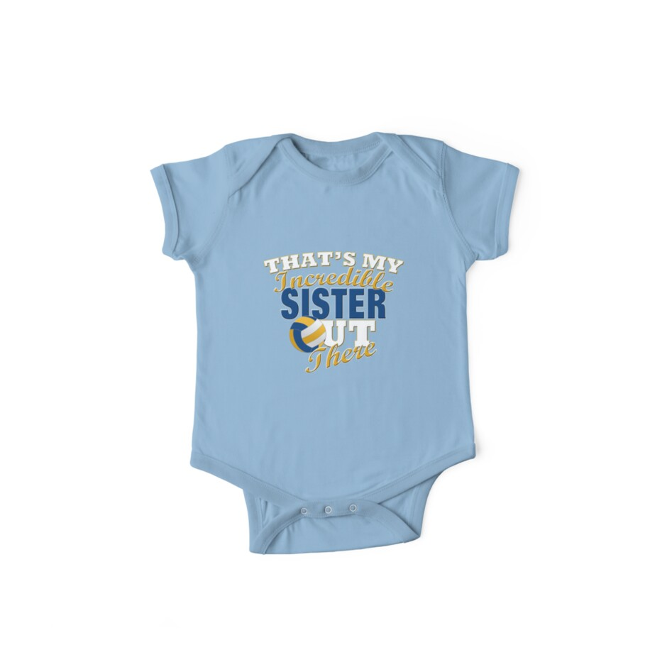 Funny Volleyball Sister or Brother Gift by Curious  Graphix