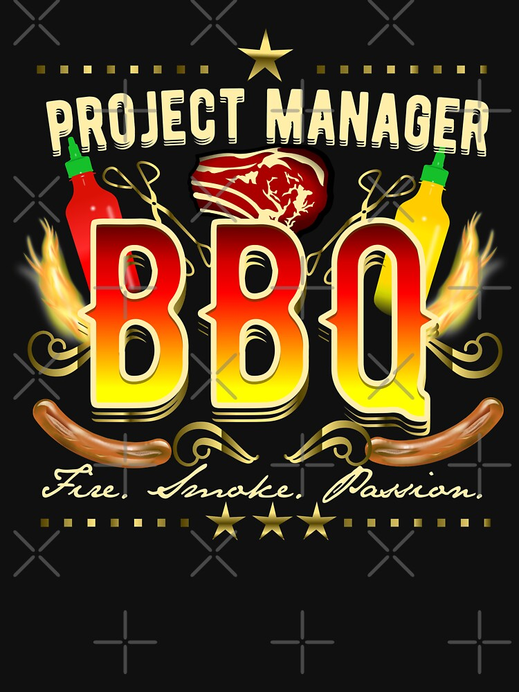 BBQ T-Shirt Project Manager BBQ by Spassprediger