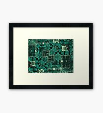 Green Legos in the Mist Framed Print