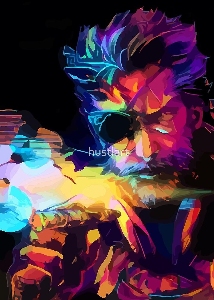 Neon One by hustlart