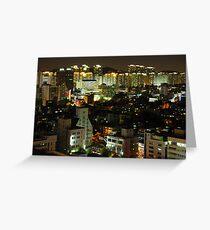 Incheon at Night Greeting Card