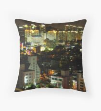 Incheon at Night Throw Pillow