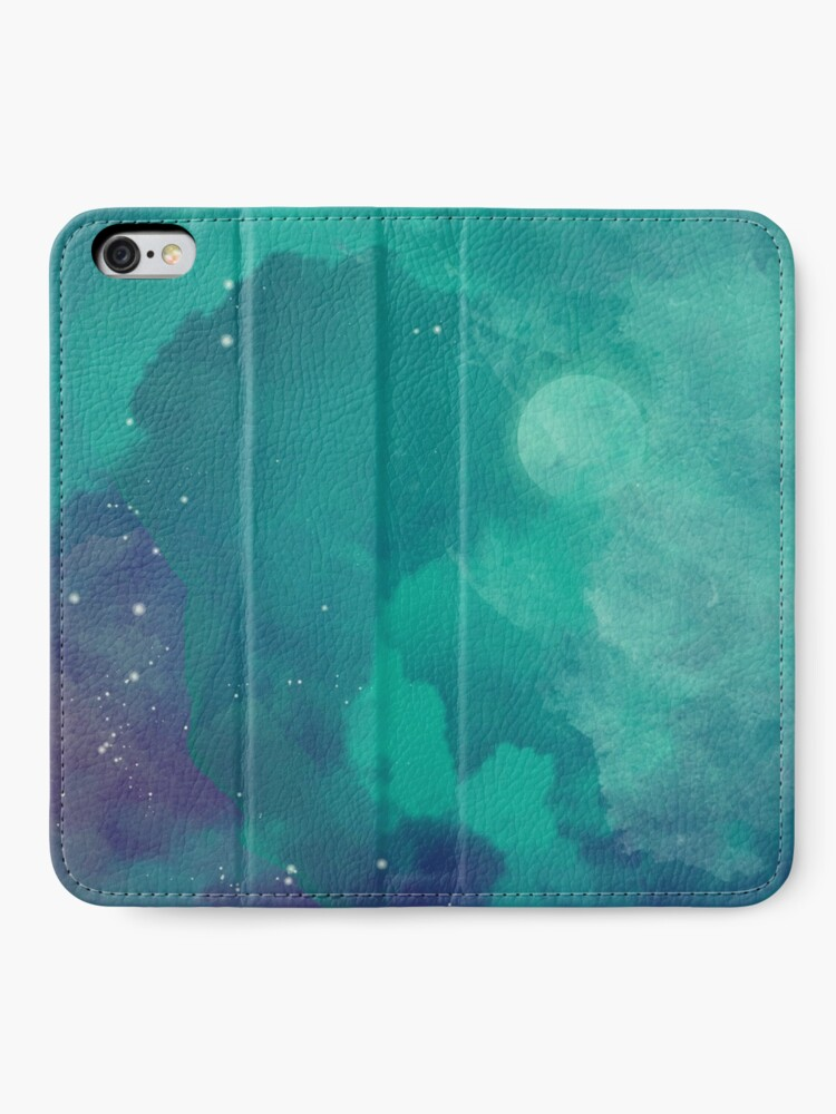 Alternate view of Night sky [watercolor] iPhone Wallet