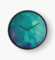 Night sky [watercolor] Clock