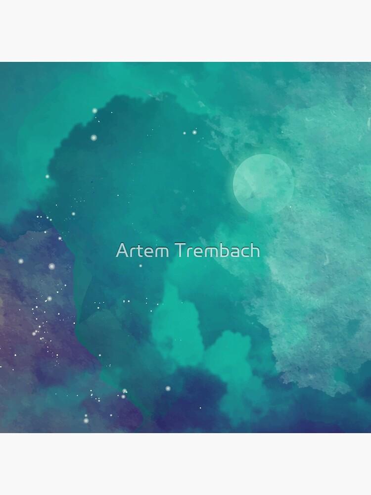 Cielo nocturno [acuarela] de Artem-Witness