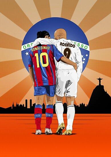 «Desde las calles de Brasil - Ronaldinho y Ronaldo Lima» de Culturedvisuals