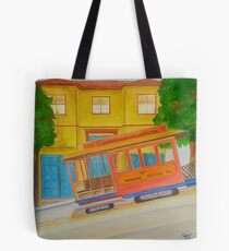 Cable Cart SF Tote Bag