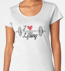 i love lifting, weightlifter t-shirt, distressed style Women's Premium T-Shirt