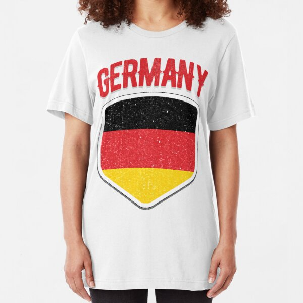 T-Shirt Born in Germany für Hooligans Ultras Hools Fans Fussballfans Deutschland