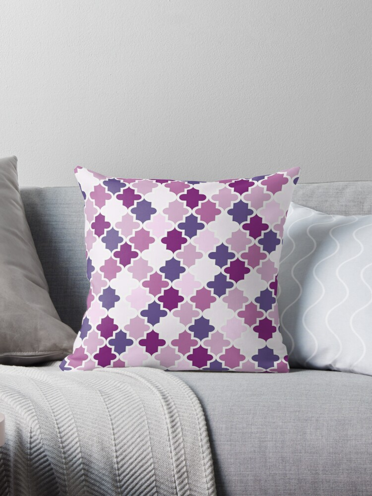 Moroccan pattern Ultra Violet, Pink, Purple by Lena127