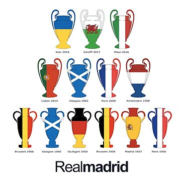 Real Madrid Champions League Trophies Shirt by Evaporate