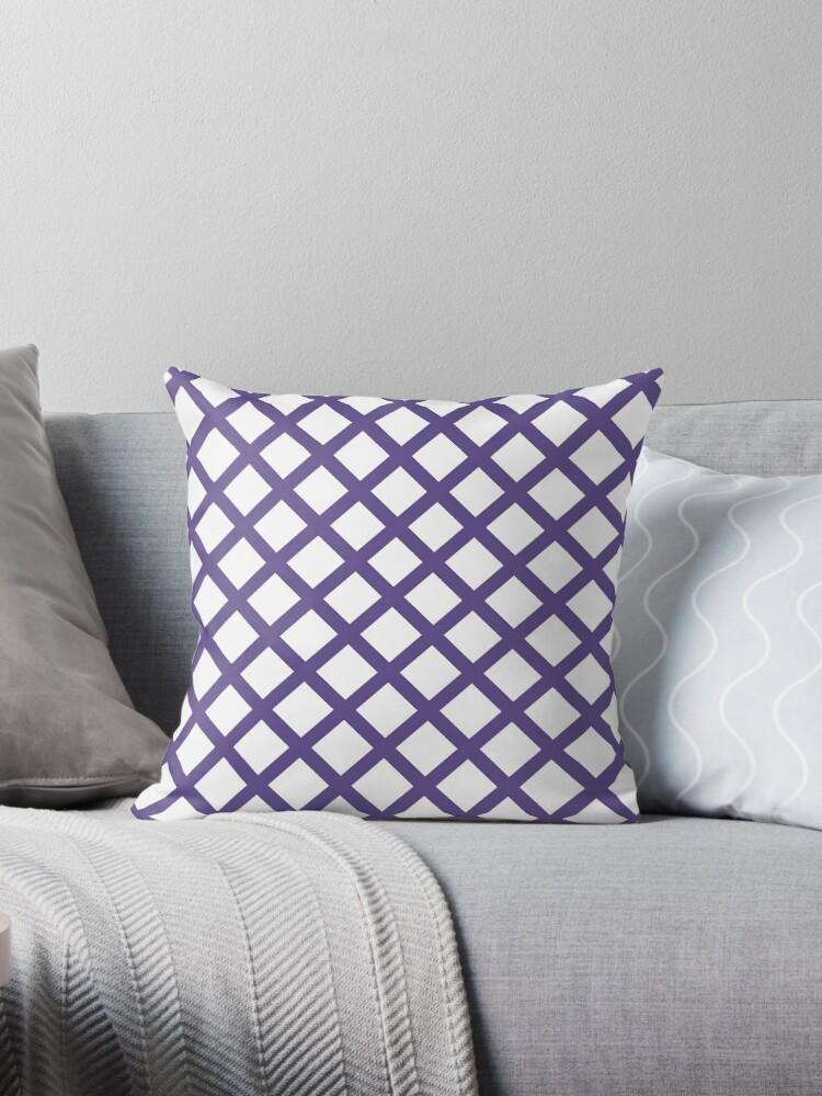 Ultra Violet and White Grill Pattern by Lena127