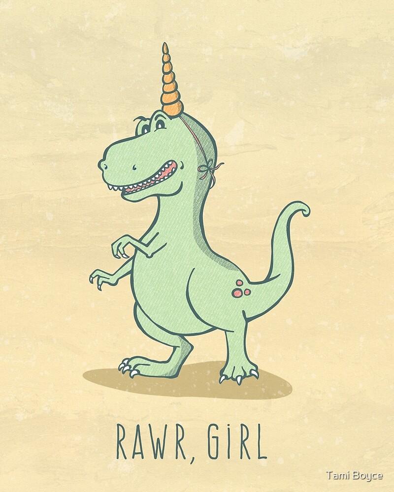 Rawr, Girl! Dinosaur by Tami Boyce