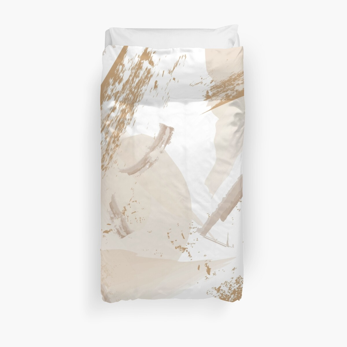 Neutral Abstract Duvet Cover by kgorms