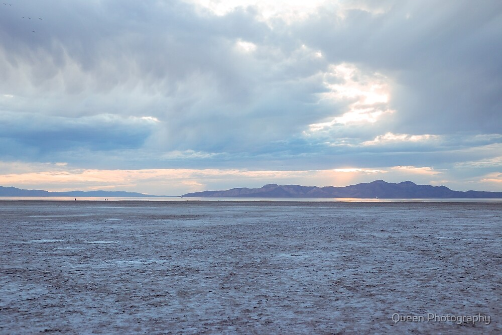 Salt Flats at Sunset by Queen Photography