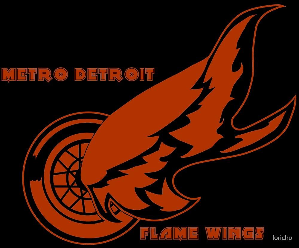 Metro Detroit Flame Wings by lorichu