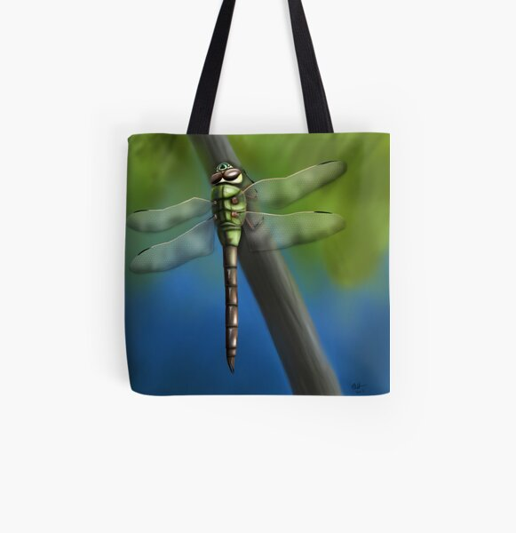 Green Darner Dragonfly All Over Print Tote Bag