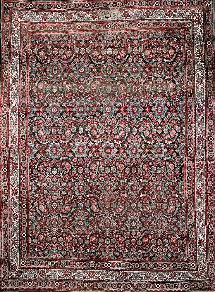 Antique Persian Tabriz Rug by Vicky Brago-Mitchell