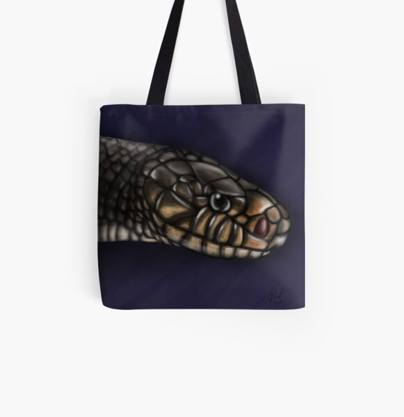 Eastern Indigo Snake All Over Print Tote Bag