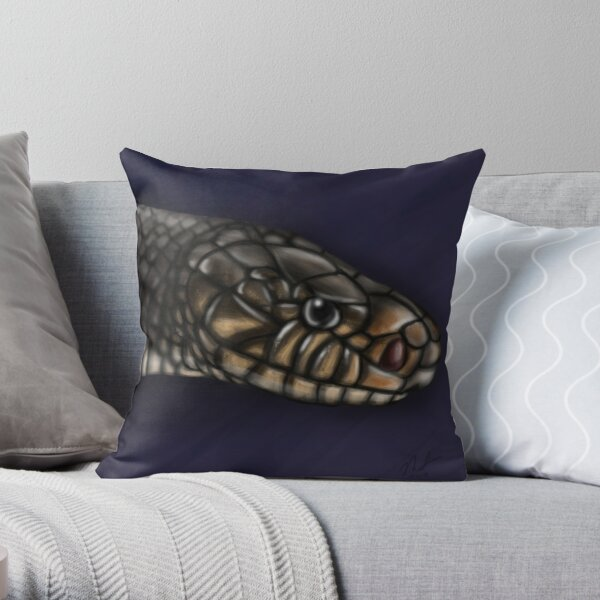 Eastern Indigo Snake Throw Pillow