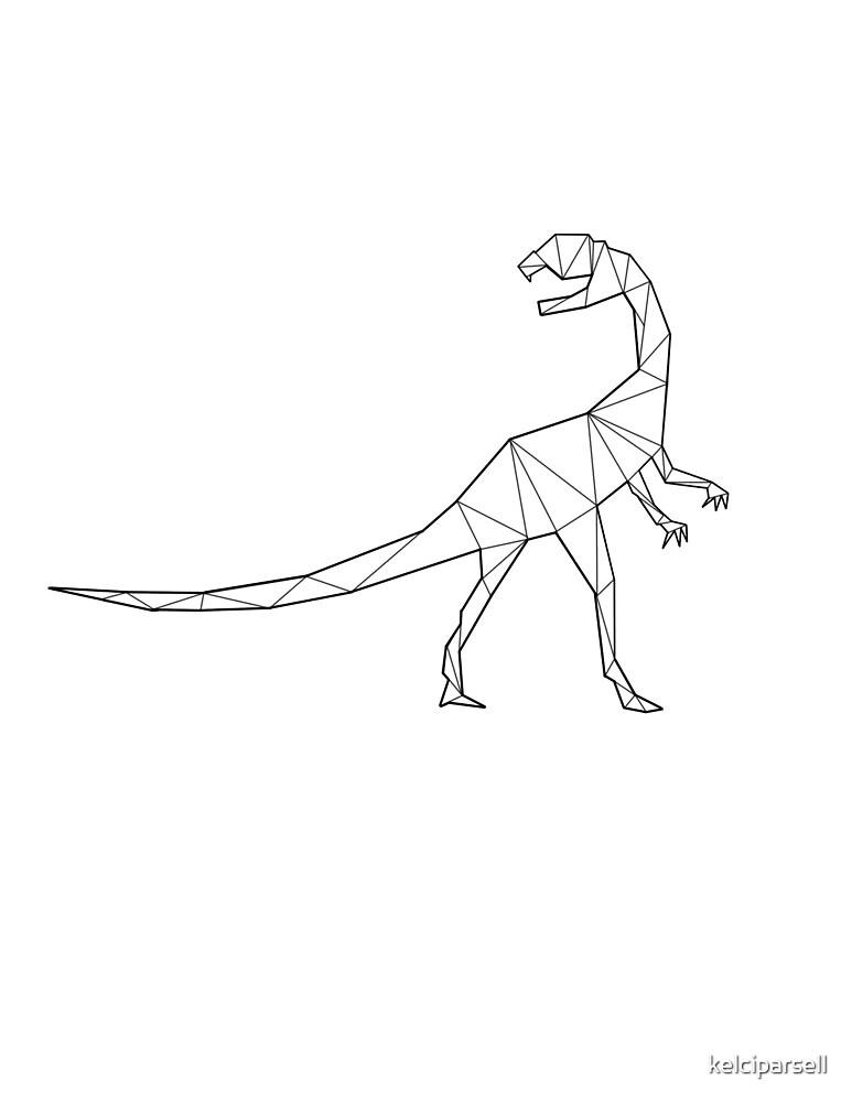 Geometric Guanlong Dinosaur by kelciparsell