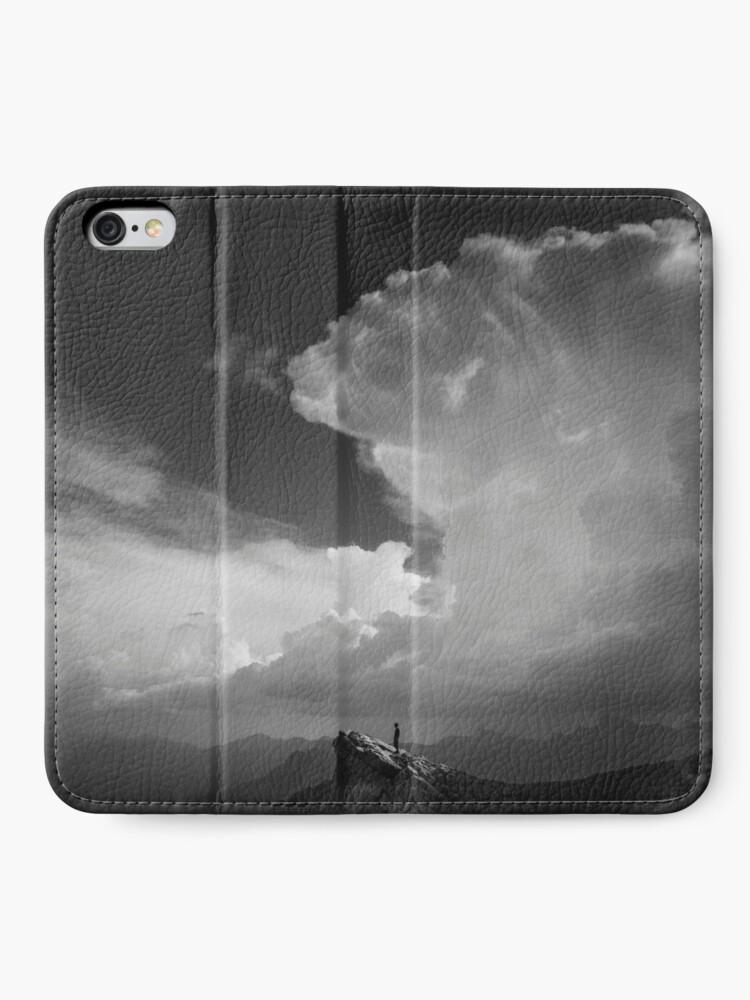 Étui portefeuille iPhone ''Alone': autre vue