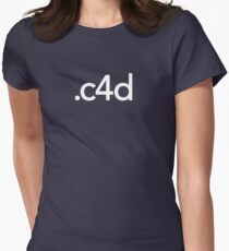 Cinema 4D File Extension Women's Fitted T-Shirt
