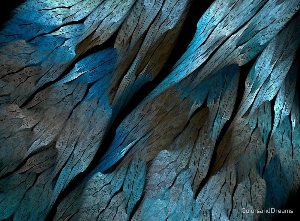 Metal blue fractal by ColorsandDreams