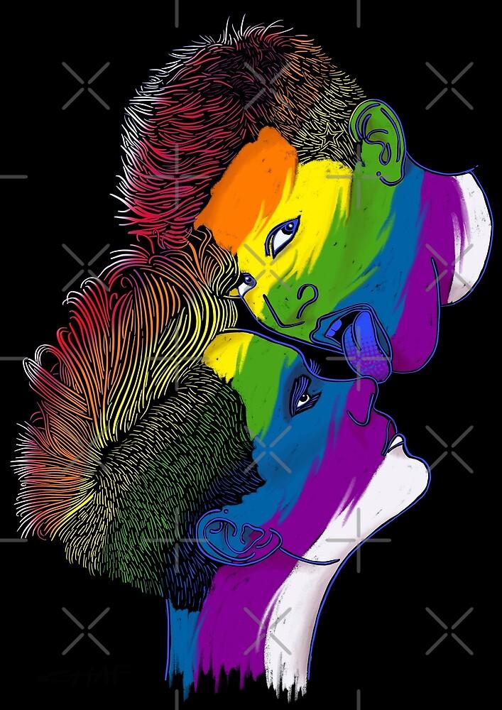 LGBT & Gay rainbow flag faces by Ice-Tees