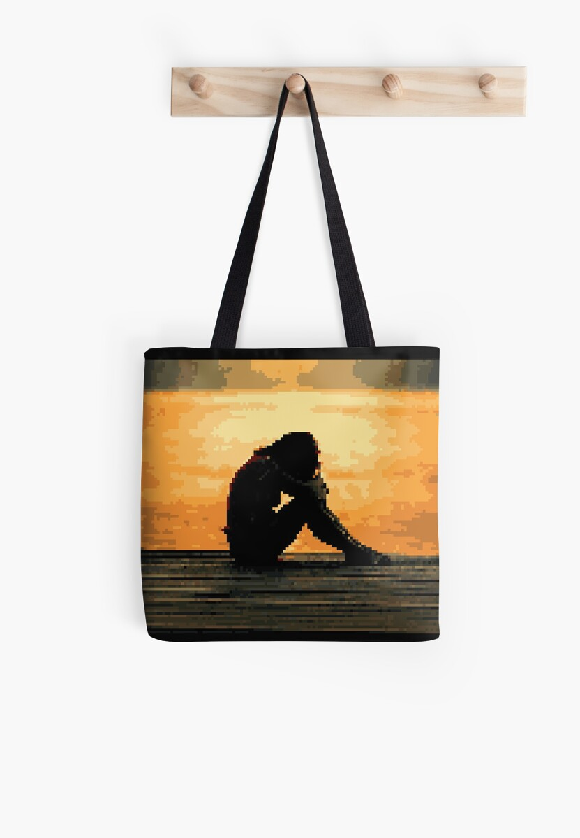 Pixel SUNSET Bag & Gift by Legendemax