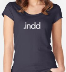 Adobe InDesign File Extension - Creative Cloud Women's Fitted Scoop T-Shirt