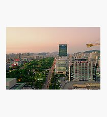 Incheon at Dusk Photographic Print