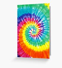 tie dye Greeting Card