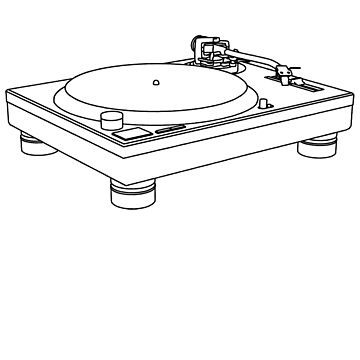 Technics 1200/1210 outline by Giles