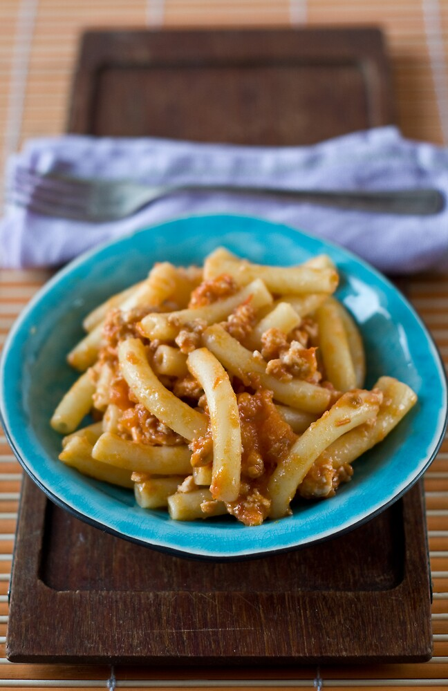 Pasta with ragú by Ilva Beretta