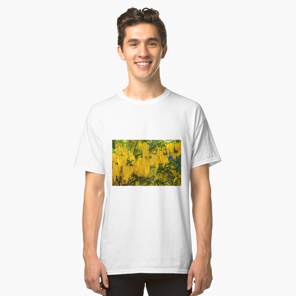 Dangling Yellow Blossoms Classic T-Shirt Front