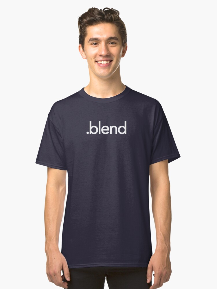 Blender File Extension Classic T-Shirt Front