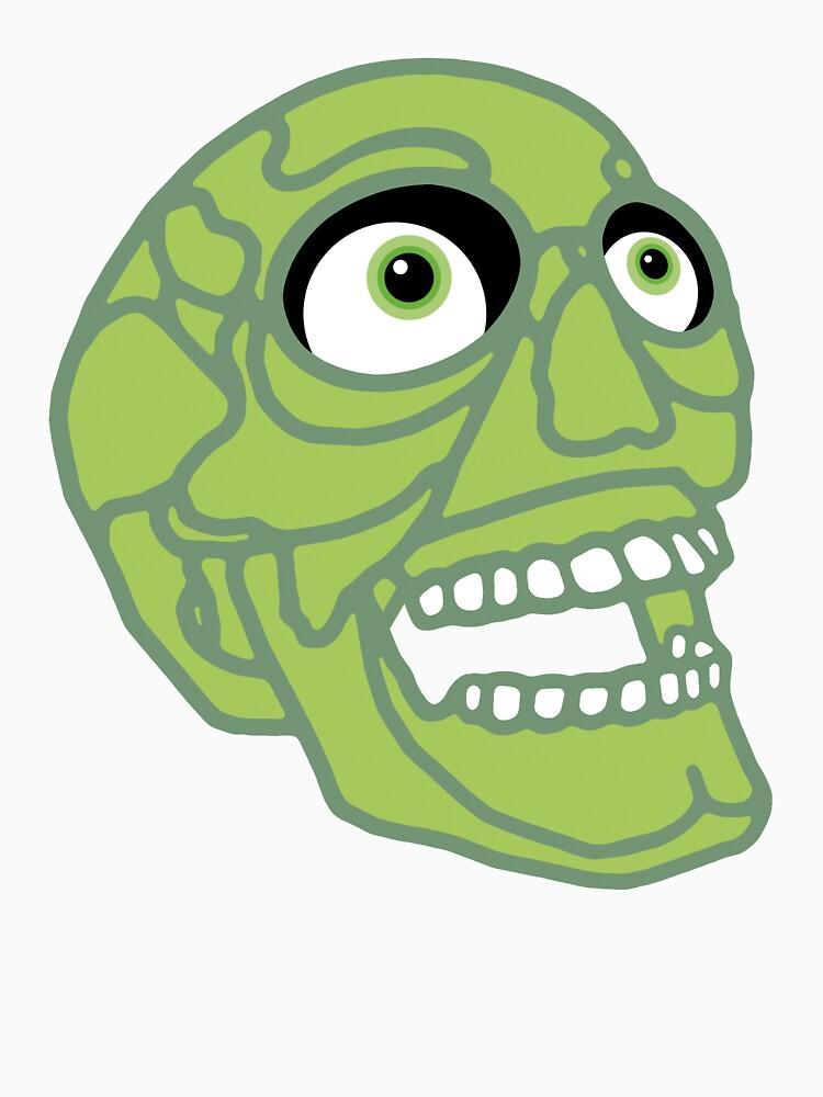 Skull (green) by tierneyart
