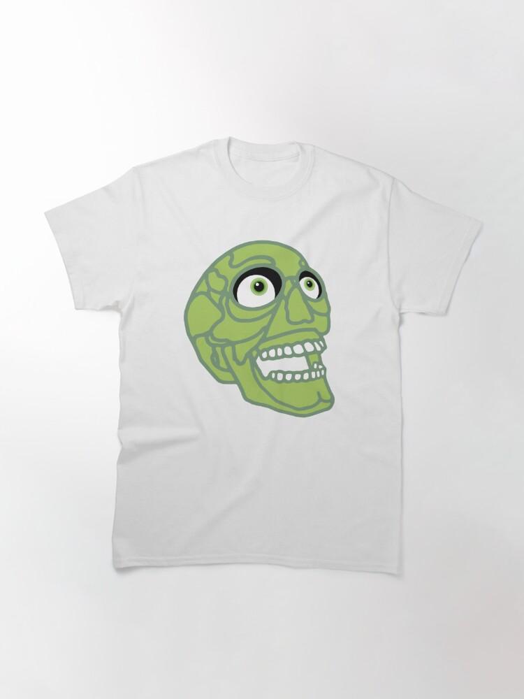 Alternate view of Skull (green) Classic T-Shirt